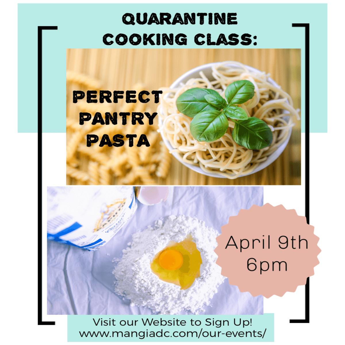 Mangia DC Quarantine Cooking Pasta